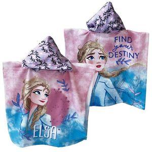 Badeponcho Frozen Elsa NEU Kapuzenponcho Bademantel Handtuch Strandtuch Badetuch Die Eiskönigin Anna Olaf Sven Mikrofaser