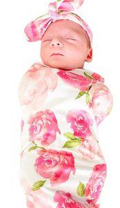 Baby Pucksack Haarband Set 100% Baumwolle für Baby Neugeborene für bis 3 Monate (Rosa)