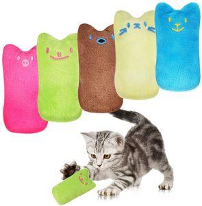 10 PCS Plüschtier, Katzenminze Baldrian Kissen Katzenspielzeug, Interaktives Katzenkissen, Kau- und Zahnreiniger, Indoor-Katzenspielzeug für Kätzchen Katze