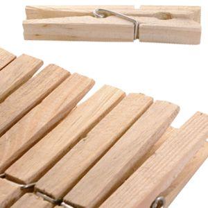 120 Stück XXL Wäscheklammern aus Holz, naturbelassene Holzklammern 10cm, Holzwäscheklammern groß, mit starker Metallfeder und robust verarbeitet zum Aufhängen der Wäsche, optimale Größe