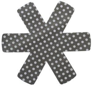 6 Stück culinario (2 x 3er Set) Pfannenschutz 38 x 38 cm, Stapelhilfe und Kratzschutz für Pfannen, grau