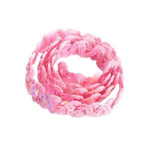 glänzende Paillette Paillettenbesatz Spitze für Stoffkleid Verschönerung rosa wie beschrieben
