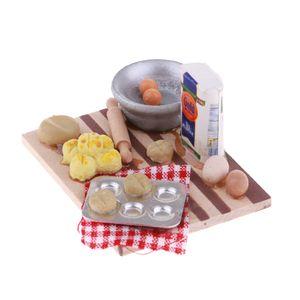 Puppenhaus Miniaturen Food u0026 Groceries Supply Holz Milch u0026 Eier Board Modell