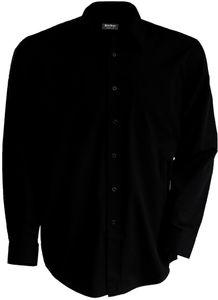 Kariban | K537 Herren Hemd langarm bügelfrei, Größe:XXL, Farbe:Black