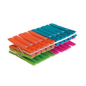 Wäscheklammern York Standard: 20 Stück in 4 schrillen Farben