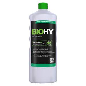 BiOHY Spülmittel (1l Flasche)   Frei von schädlichen Chemikalien & biologisch abbaubar   Glanz- & Fettlöseformel   Für Gastronomie, Industrie und Haushalt geeignet