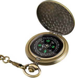 Retro Compass Tragbarer Militärkompass Fluoreszenzglühen Survival Gear Compass Outdoor-Navigationskompass-Tools für Wandern, Camping, Reiten, Jagen, Bootfahren, Pfadfinder