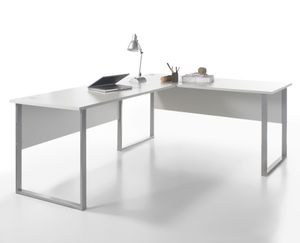 Winkelkombination Büro Home Office Grau Lichtgrau Office Lux ohne Rollcontainer