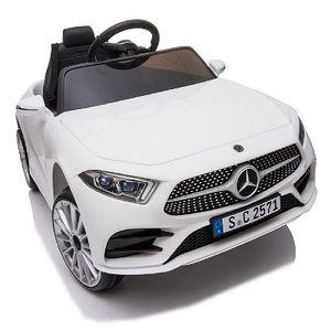 Mercedes-Benz CLS350 Weiss Kinderauto Kinder Elektro Elektrofahrzeug mit Fernbedienung mp3, USB, 2x starke Motoren uvm.