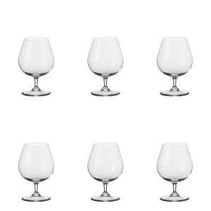Leonardo Ciao+ Cognacschwenker 6er, Cognacglas, Schwenker, Brandy Glas, Extrem Stoßfest, 370 ml, 19837