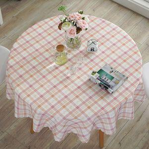 Garten Wasserdichte Runde Tischdecke Spitze-Rand-Anti-heiße Öl-proof Tischdecke -(11,160x160cm Runde)