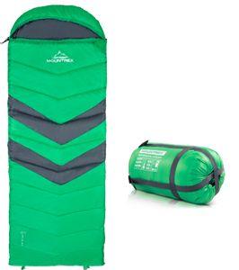 MOUNTREX® Schlafsack - Deckenschlafsack für Camping, Outdoor & Festival - 3 Jahreszeiten Warmer Schlafsack 205 x 75cm - 1.6 Kg