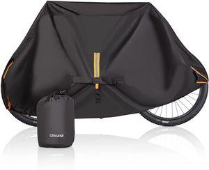 ONVAYA® Premium Fahrradabdeckung für 2 Fahrräder | wasserdichte Fahrradplane | Fahrradgarage | Fahrradhülle für Wohnmobile & Heckträger geeignet | Fahrrad-Regenschutz & UV-Schutz