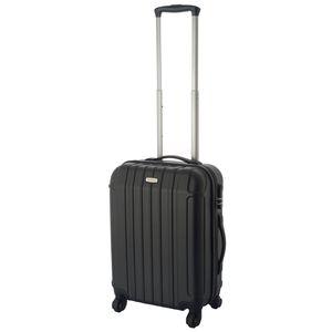 Hartschalen-Koffer Handgepäck Trolley / S - 55x39x20 cm / Reisekoffer Hartschale 4-Rollen - Farbe: schwarz