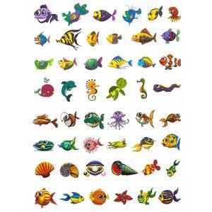 Oblique Unique Temporäre Tattoos Klebetattoos Kinder Tattoo Set - Fisch Motive