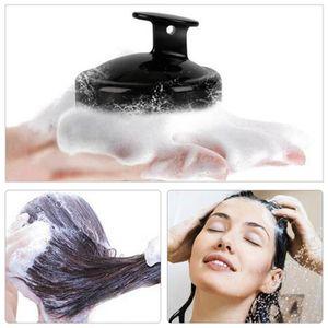 Schwarz-2er Pack Haar-Shampoo-Bürste Kopfhaut-Massagewäscher, Schimmelfreies Einteiliges Festes Silikon, Für Haarwuchs Trockene Kopfhautschuppen