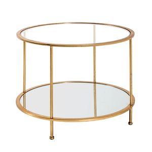 Haku Beistelltisch, gold - Maße: Ø 60 cm x 45 cm; 20288