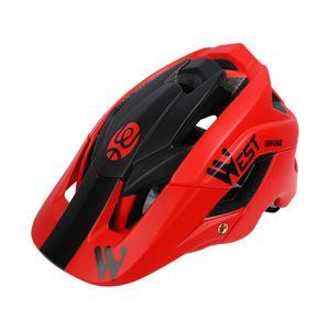 Ultraleicht Erwachsenen Fahrrad Helm  Geformten Radfahren Helme Spezialisiert für Mens Womens Harte Crash Hut Sicherheit Schutz rot