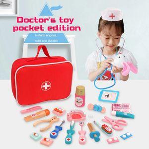 Doktorspielzeug, hölzernes Kinderspielzeug, Simulationspuzzle-Spielzeugset für die frühe Bildung