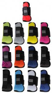 Gamaschen Hartschalengamaschen Pferdeschutz QHP 3 verschiedene Größen 13 verschiedene Farben Größe - Shetty Farbe - apfelgrün