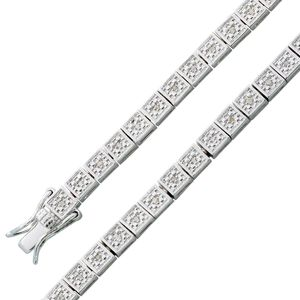 Diamanten Armband weiss Sterling Silber 925 Brillantarmband Tennisarmband 20