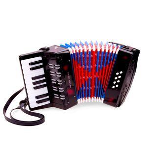 New Classic Toys - Akkordeon - Groß - schwarz mit Musikbuch - 10057