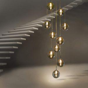 ZMH Pendelleuchte esstisch Pendellampe Höheverstellbar Kronleuchter Hängeleuchte 10-Flammig aus Glas Küchen Wohnzimmerlampe Schlafzimmerlampe Flurlampe