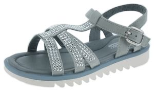 LICO Kinder Sandale SOLEA 470108 grau/silber, Farben:grau, Kinder Größen:31