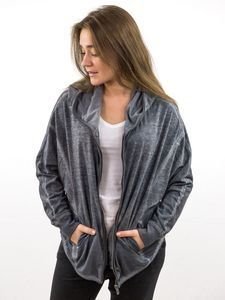 KALLIE: Damen Oversize Sweatjacke, Farbe:Loft, Größe:XL