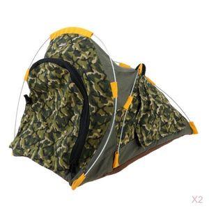 Puppen Camping Zelte Tarnzelt für 1: 6 Soldatenszene Cosplay Spielzeug 2St