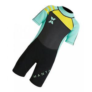 Kinder Kurzarm Neoprenanzug Swimwears Badeanzug Badeanzug UPF50 + Größe XL