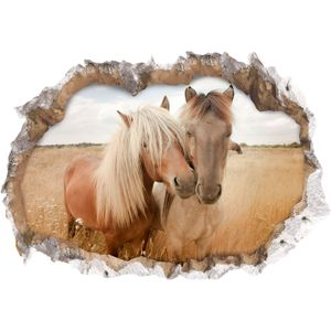 3D Pferde Wandtattoo Wandaufkleber Wandsticker Zimmer Sticker Aufkleber 70x100cm