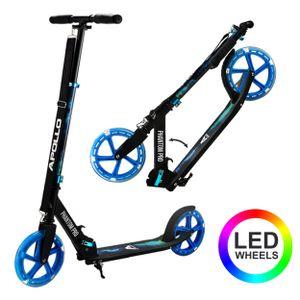 "Apollo City Scooter ""Phantom Pro"" Cityroller mit LED Wheels klapp- und höhenverstellbar Tretroller - Universe/blau"