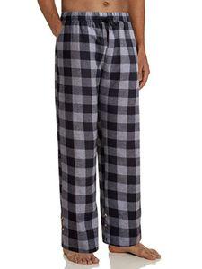 Herren Lounge Pyjama Pj Hose Bottom Kariert Loose Nachtwäsche Hose Schlafhosen,Farbe:Grau,Größe:M