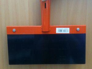 Kerbl Stoßscharre 30cm ohne Stiel Blech 1mm Stärke