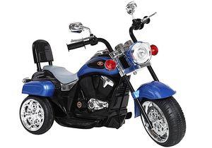 Kinder Motorrad Chopper FX Trike Blau elektrisch Elektromotorrad ab 3 Jahren mit Licht und Sound