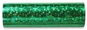 1 Rolle Luftschlangen grün holographic
