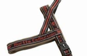 Hurtta Norwegergeschirr Hunde Brustgeschirr Gr.35 cm schwarz-rot