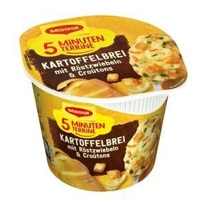 Maggi 5 Minuten Terrine Kartoffelbrei mit Röstzwiebeln Croutons 59g