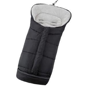 tectake Fußsack mit Thermofüllung - schwarz