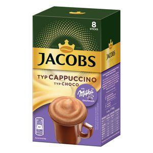 Jacobs Instant Cappuccino Milka, Löslicher Kaffee, Instantkaffee, Löskaffee, 8 Portionen à 18 g