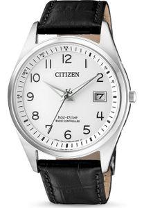 Citizen AS2050-10A Funkuhr Eco Drive Uhr Herrenuhr Datum Schwarz