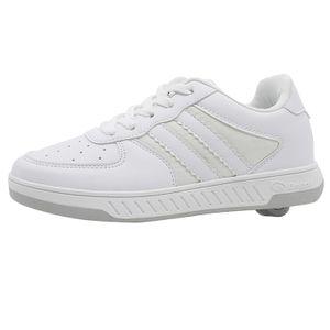 Breezy Rollers Kinder Rollschuh Schuhe mit Rollen - Weiß, Breezy Rollers:EU 35 | UK 2.5 | US 3 | 22.6 CM