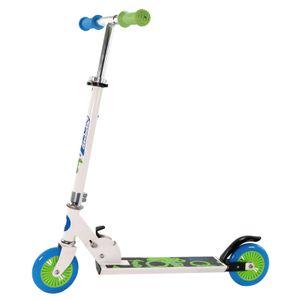 Best Sporting Scooter 125er Rolle, Tretroller für Kinder, klappbar, Farbe weiß/blau oder schwarz/orange, Farbe:weiß/blau