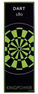 Dart Teppich Target Oche Matte Steeldart Dartpfeile Dartboard Zubehör Dartteppich Darts Abwurflinie Schutz Gummi Boden Dartscheibe Grün 237 x 80 cm Kingpower