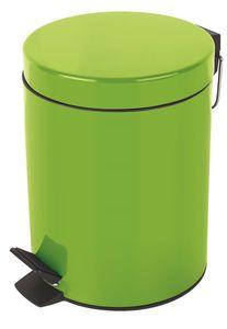 """Spirella Kosmetikeimer """"Sydney Grün"""" Mülleimer Treteimer Abfalleimer - 5 Liter – mit herausnehmbaren Inneneimer"""