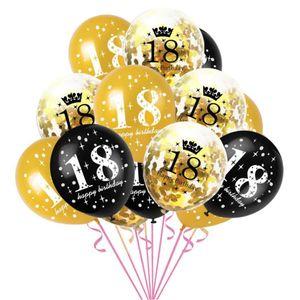 Oblique Unique Konfetti Luftballon Set Zahl 18 Geburtstag Happy Birthday 15 Ballons