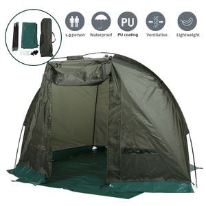 Angelzelt Karpfenzelt Campingzelt Anglerschirm Tent+2 Fenster für 1-2 Personen ,Winddicht ,Wasserdicht ,Feuchtigkeitsbeständig ,215x121x118cm,Schnell Zu Bauen