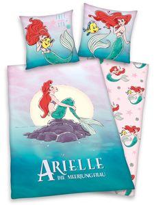 Disney`s Princess ARIELLE Flanell Bettwäsche 80x80 + 135x200cm 100% Baumwolle