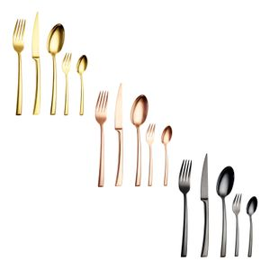 Echtwerk Tafelbesteck 'AVELINO' 30 tlg. - Shiny Edition Besteck-Set, Farbe:Gold